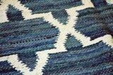 Katoen kleed India blauw diamant detail