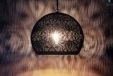 Oosterse lamp Maya Zwart donker
