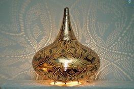 Orientalische Stehlampe Yair XL Gold