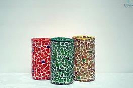 Mosaik-Kerzenhalter