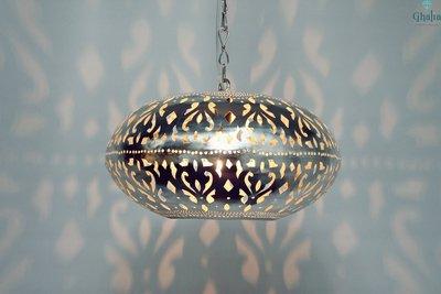 Oosterse lamp Burlesque L aan licht