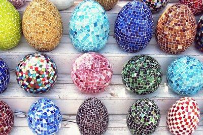 Mosaiklampe Egg
